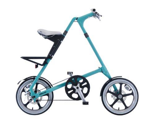 STRIDA(ストライダ) 16インチアロイ製折りたたみ自転車 [ディスクブレーキ/リアキャリア/泥除け/ベル標準装備] STRIDA LT-PASTEL ターコイズ
