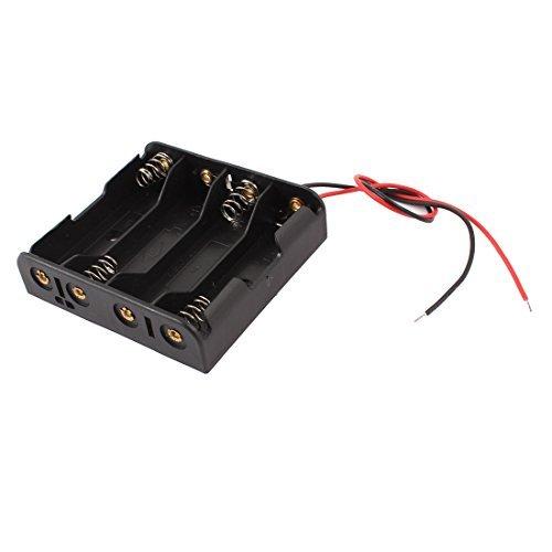 Filaire Connecteur 4 x 1.5V AA Porte-piles Boîtier En Plastique Boite De Rangement