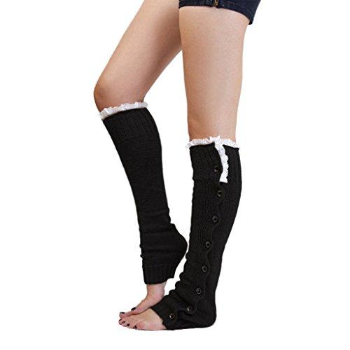 1-paar-damen-spitzenbesatz-strick-stiefel-abdeckung-socken-beinstulpen-schwarz