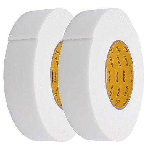 mylifeunit-double-sided-sponge-rubber-foam-tape-36mm-x-25mm-x-45m-2-pcs-white