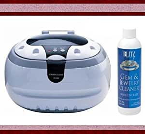 Ultrasonic Jewelry Cleaner By Bogue Systems + Blitz Liquid Jewelry and Gem Cleaner + More
