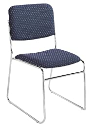 NPS 8664-CN Fabric-upholstered Sled Base Signature Stack Chair, 300-lb Weight Capacity, 19\