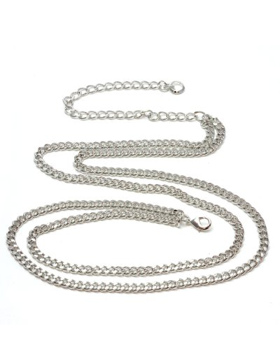 NYfashion101 Trendy Belly Chain Belt w/ Multi Link Chains IBT1006-Silver