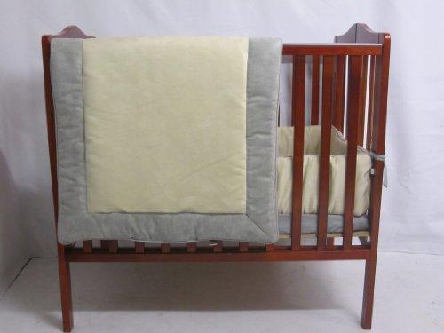 Baby Doll Bedding Zuma Port-A-Crib Bedding Set,  Grey/Beige