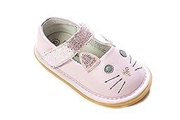 Wee Squeak Baby Girls Kitty (11, Pink)
