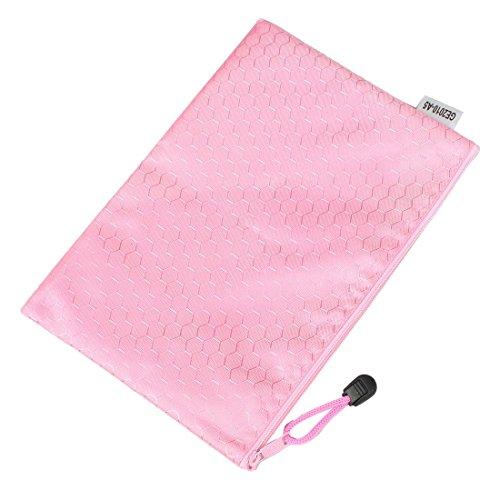 sourcingmap-a5-hex-patron-agua-archivo-resistente-rosa