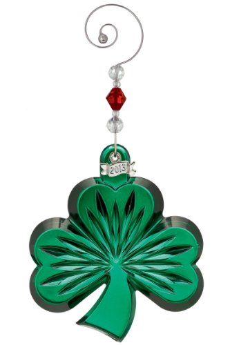 2013 Waterford Green Shamrock Christmas Ornament