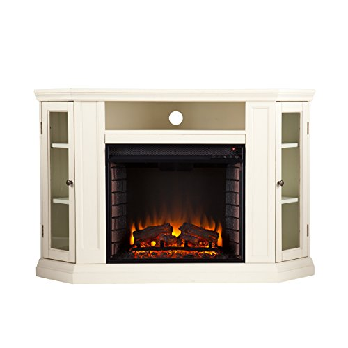 Lowest Prices! Southern Enterprises Claremont Convertible Media Ivory Electric Fireplace