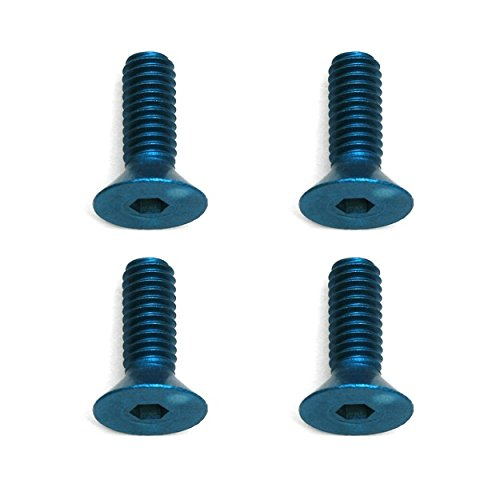 Team Associated 8570 M4X12mm FHCS Blue Aluminum Screws (4)