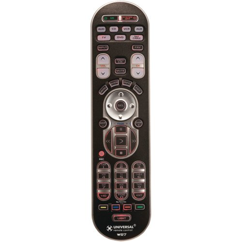 Best Review Of URC WR7 Universal Remote Control for up to 7 A/V Components with 4 Favorite Channel B...
