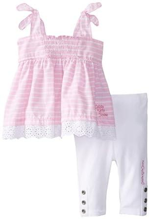 Calvin Klein Baby Girls' Top with Leggings, Pink, 12 Months