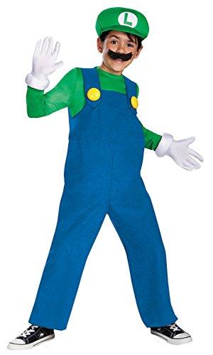UHC Boy's Mario Luigi Deluxe Kids Child Fancy Dress Party Halloween Costume, M (7-8) (Cheap Mario And Luigi Costumes)