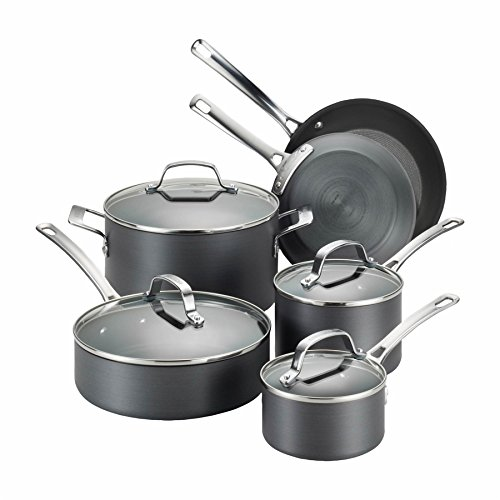 5 Piece Copper Chef Nonstick Square Induction Pan With