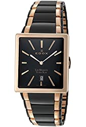 EDOX LES BEMONTS MEN'S WATCH 27031 357RN NIR