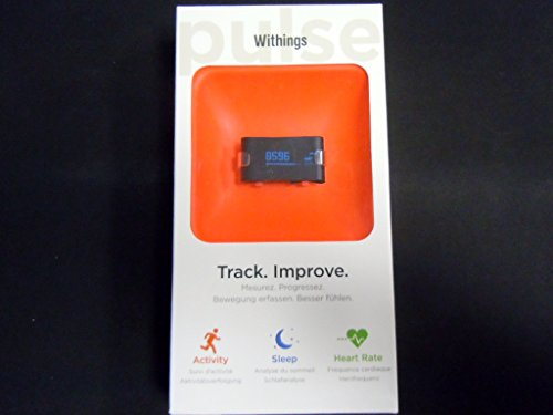 Withings Pulse Wireless Activity Tracker + Sleep and Heart Rate Monitoring, Black