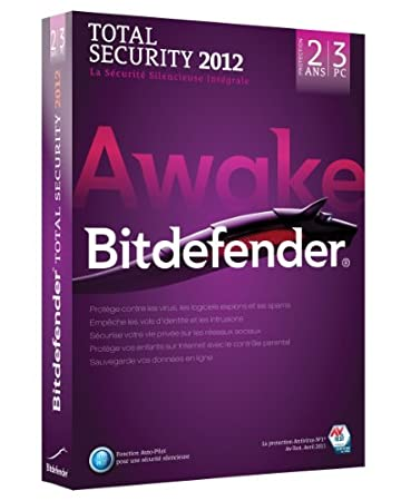 Bitdefender Total Security 2012 (3 postes, 2 ans)