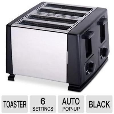 Brand New Brentwood Toaster - Toast - Brushed Stainless Steel, Black (Ts284) Over 10 Years Of Exceptional Service
