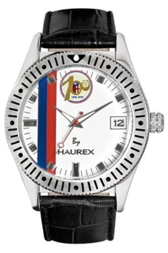 Haurex Italy BC331UW1 - Reloj analógico de cuarzo para hombre con correa de piel, color negro