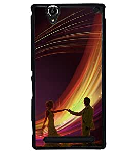 Fuson Premium Join To Dance Metal Printed with Hard Plastic Back Case Cover for Sony Xperia T2 Ultra Dual