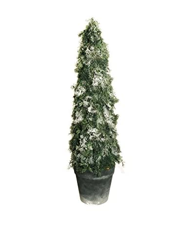 Evergreens Planta Artificial Cypress Pine Blanco/Verde