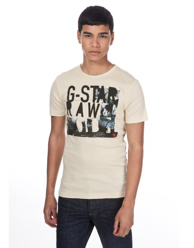 G Star Avanver T-Shirt - Cream - Mens