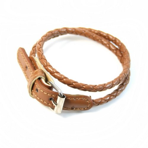 Korean Fashion Leather Double Wrap Belt Bracelet
