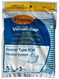 Hoover-10 R30 Allergy Vacuum Bag + 4 Filters, Canister Vacuum Cleaners, 40101002, S1361, Type R30 Bags