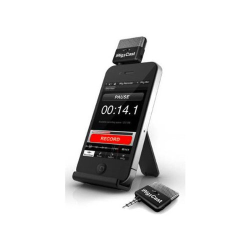 Ik Multimedia Irig Mic Cast Ip-Irig-Cast-In Ultra-Compact Voice Recording Microphone For Iphone, Ipod Touch, Ipad And Android Devices (Black)