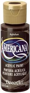 DecoArt Americana Acrylic Paint, 2-Ounce, Asphaltum