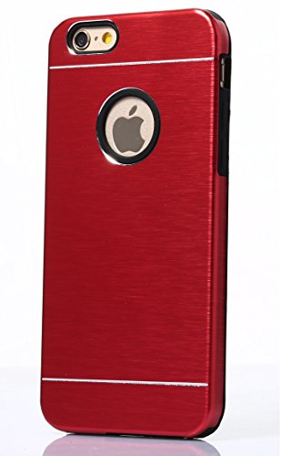 Tat2 - iPhone 6 Case Red Alluminum and Soft Silicone Protection - Slim Fit Case for Boys and Girls - Stylish and Cool iPhone Cases with Dual Layer Protection - Deluxe Non Slip Case and Firm Grip for Y