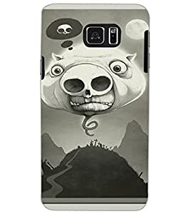 SAMSUNG GALAXY NOTE 5 PIGGY Back Cover by PRINTSWAG
