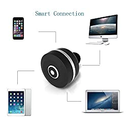 VersionTech Black & Silver Slim Mini Bluetooth V3.0 Wireless Hands-free HandsFree Headset Headphone Eraphone With Noise Reduction Technology for Apple iPhone 6 iPhone 6 Plus iPhone 5S 5C 5, iPhone 4S 4, Samsung Galaxy S5 / S4 / S3, LG, PC Laptop, and Other Bluetooth Device