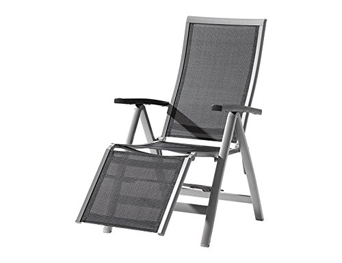 Sieger 983/A-SG Relaxsessel Casa klappbar 110 x 63 x 109 cm, graphit / grau günstig