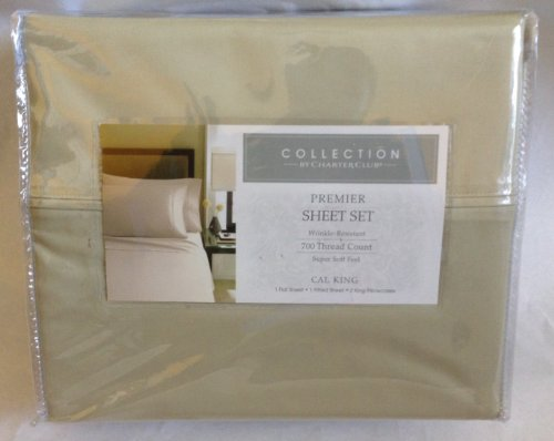 Charter Club Bedding, Premier 700 Thread Count Green Clover California King Sheet Set NEW (Collection By Charter Club Sheets compare prices)