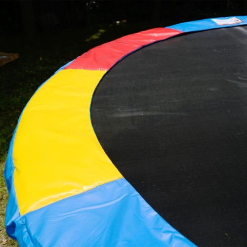 Multi-Color-15-FT-Trampoline-Safety-Pad-EPE-Foam-Spring-Cover-Frame-Replacement