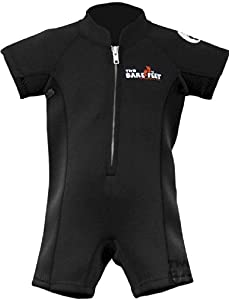 CLASSIC BABY WETSUIT by Mikes Diving FOR SWIMMING, BLACK, XXS