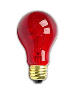 25 Watt A19 Transparent Red Light Bulb