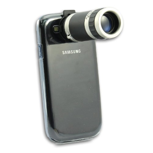 [Aftermarket Product] 8X Zoom Telescope Lens+Hard Back Case For Samsung Galaxy S3 I9300 I9305 Lte New