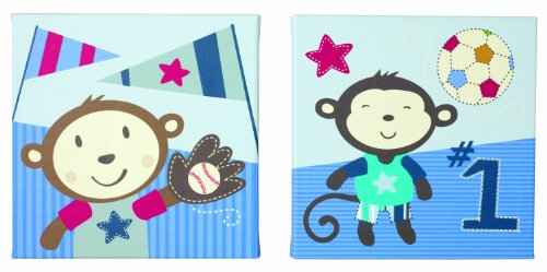 Summer Infant 2 Count Wall Art, Team Monkey