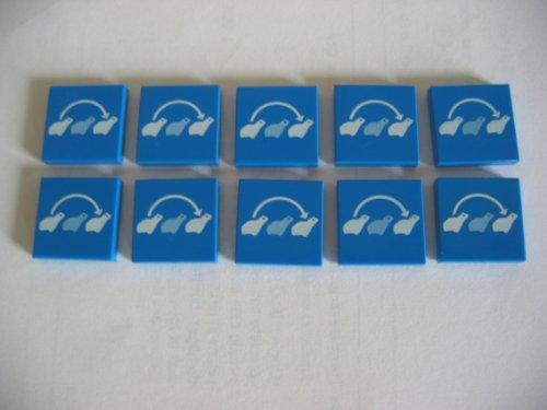 LEGO CITY - 10 seltene blaue FLIESEN mit 2x2
