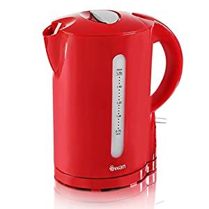 Swan Red Cordless Electric 1.7L Jug Kettle And 4 Slice Long Slot Toaster Set New by Swan