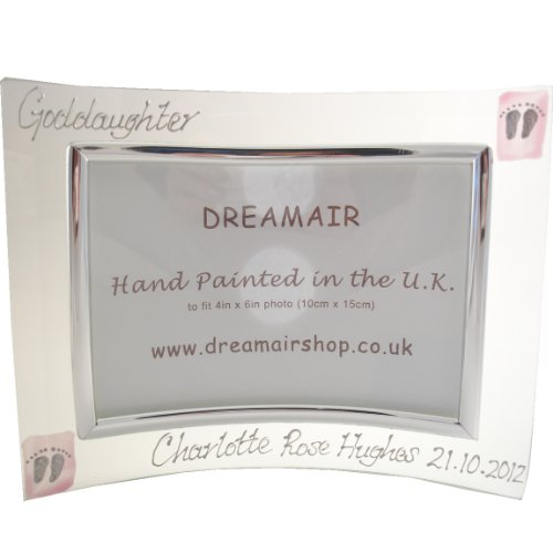Personalised Goddaughter Photo Frame (Land) Pink MAX 25 CHARACTERS