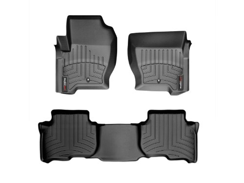 Weathertech Custom Fit Floorliner - Land Rover Lr4 / Discovery 4 - 2010-2012 - 1St & 2Nd Row Black