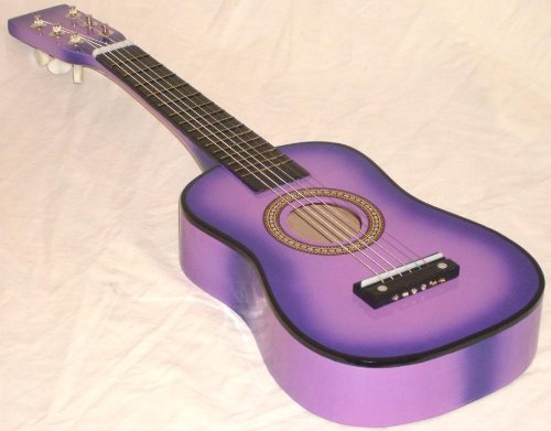 Mighty Instruments Kids 23-Inch Toy Guitar For Children Ages 3 and Up - PURPLE