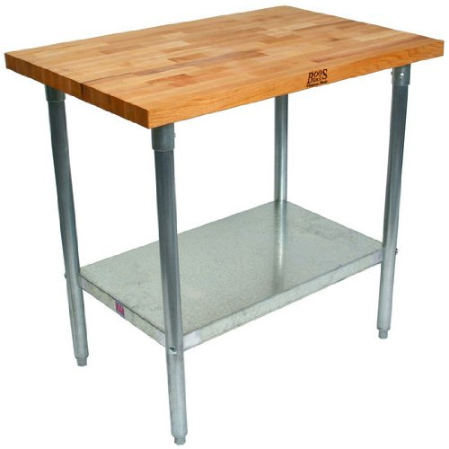 John Boos Maple Butcher Block Kitchen Work Table 60 Inch X 36 Inchx 36 Inch Manurics