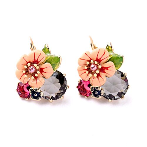 Kaariag Punkin™ Flower Shape Dew Crystal Earring