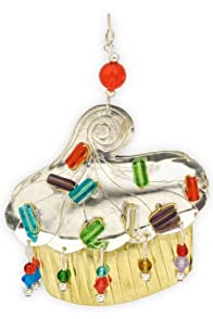 Pilgrim Imports Casey's Cupcake Metal Fair Trade Ornament