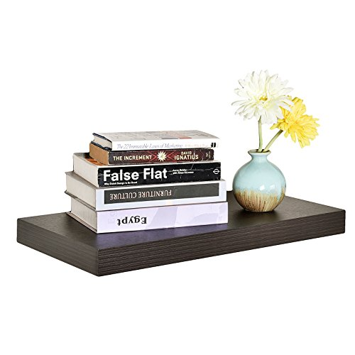 WELLAND 12-Inch Depth Grande Floating Wall Shelf, Deeper Than Others (24'', Espresso)