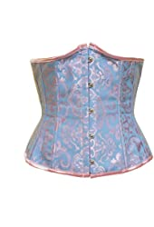 BSLINGERIE® Womens Brocade Lace Up Back Underbust Boned Corset