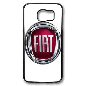 Fiat Car Logo 1 Customized Black Hard Case for Samsung Galaxy S6: Cell